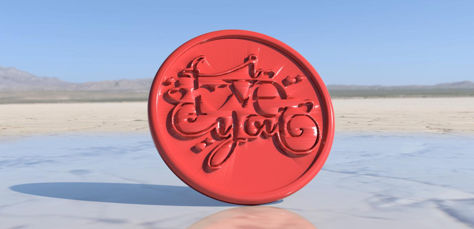 i love you.png Download free STL file I love you drinkcoaster • 3D print design, IdeaLab