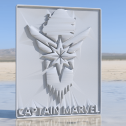 captain marvel.png Download free STL file Captain Marvel sign • 3D printer object, IdeaLab