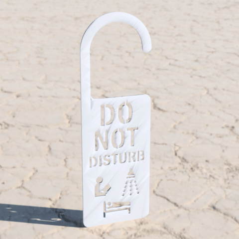 Free STL files Door sign (remix), IdeaLab