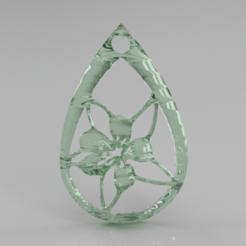hibiscus.png Download free STL file Hibiscus earrings • 3D printing object, IdeaLab