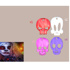 halloween v5 final medium.png Download free STL file Halloween skull earrings (4 files !) • 3D printable object, IdeaLab