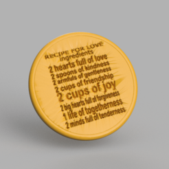 recipe.png Download free STL file Drinkcoaster 'recipe for love' • 3D printable design, IdeaLab