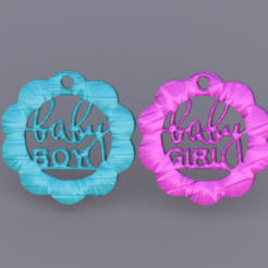 baby.png Download free STL file Babyshower earrings (two files!) • 3D printing template, IdeaLab