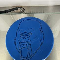 IMG_4507.jpg Télécharger fichier STL gratuit Dessous de verre de King Kong • Design pour impression 3D, IdeaLab