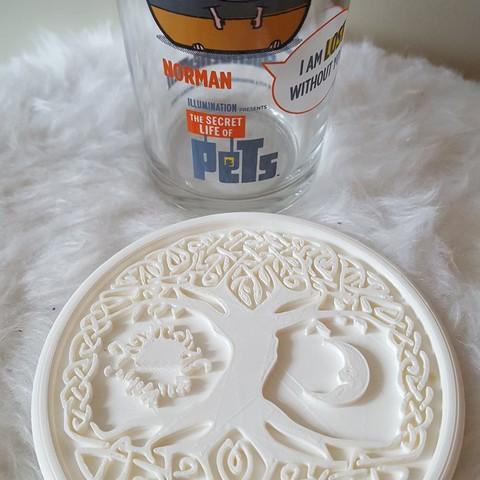 20190324_171422.jpg Download free STL file Celtic tree of Life drink-coaster (version 2) • 3D printer object, IdeaLab