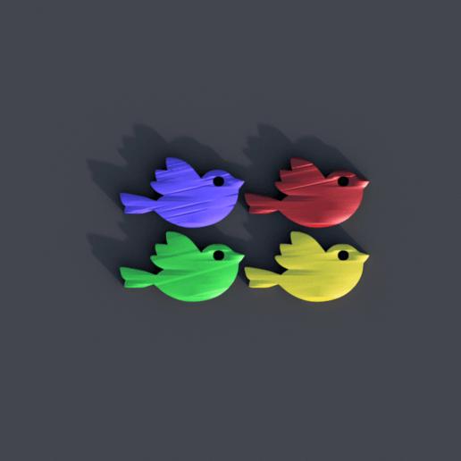 Descargar modelos 3D gratis Pendientes de pájaro, IdeaLab