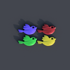Télécharger modèle 3D gratuit Boucles d'oreilles pour oiseaux, IdeaLab