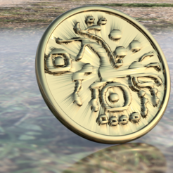 Free 3D print files Celtic coin coaster, IdeaLab