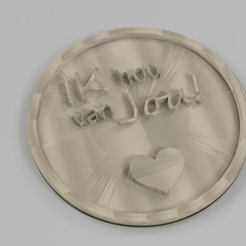 liefde 2.png Download free STL file Ik hou van jou! drinkcoaster pair • 3D printer model, IdeaLab