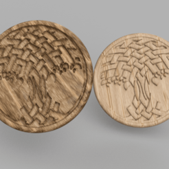 twisted tree.png Download STL file Twisted tree drinkcoaster (pair) • 3D printer design, IdeaLab