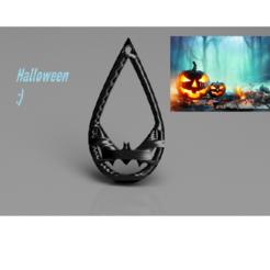 Télécharger plan imprimante 3D gatuit Boucle d'oreille Halloween:'chauve-souris'., IdeaLab