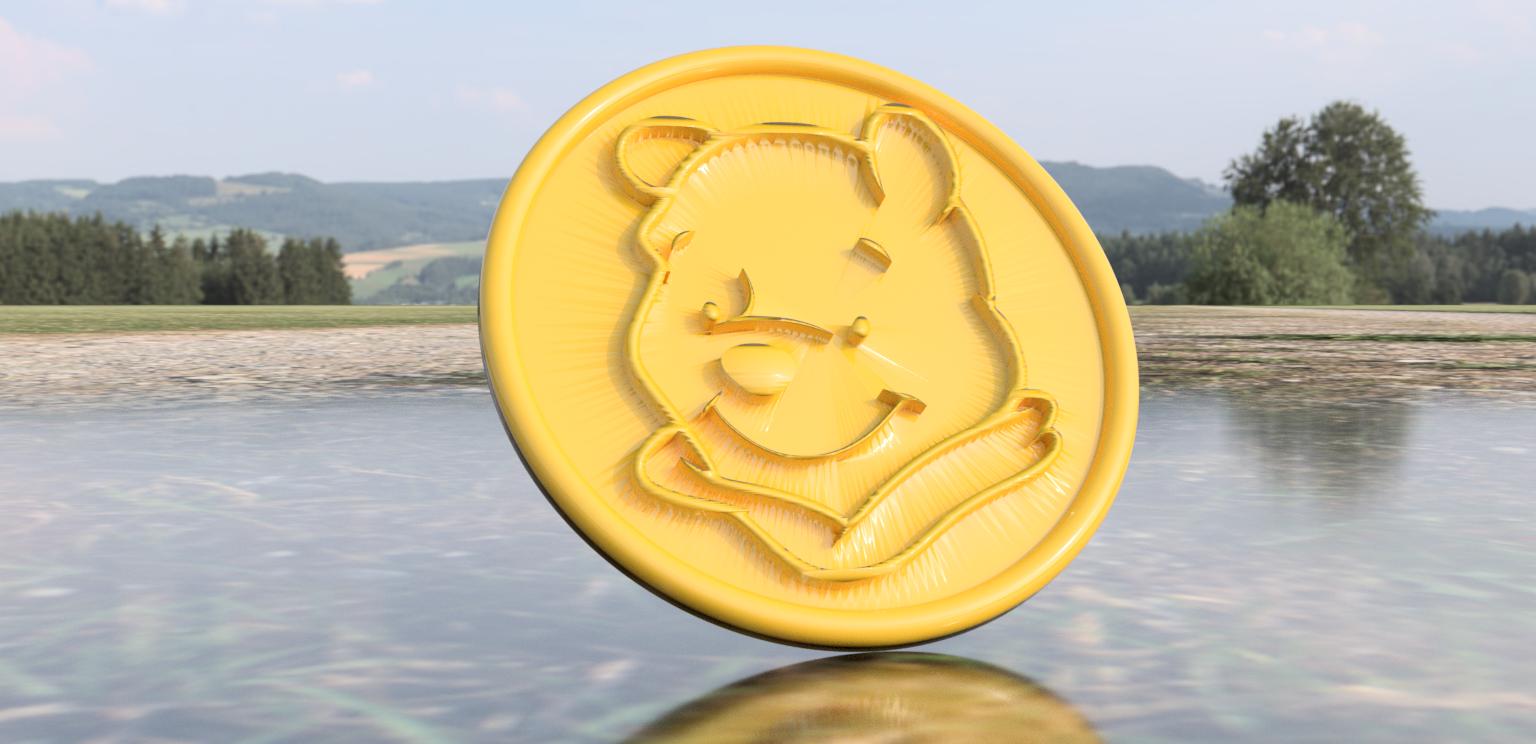 poeh.png Download free STL file Winnie the pooh drinkcoaster (pair) • 3D printable model, IdeaLab