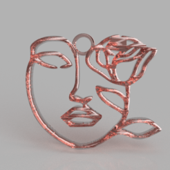 Download free 3D printing files Artistic face earring, IdeaLab