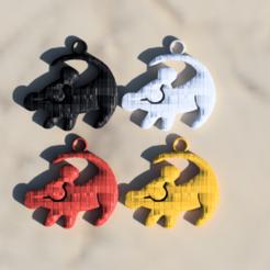 Impresiones 3D gratis Pendientes de león, IdeaLab
