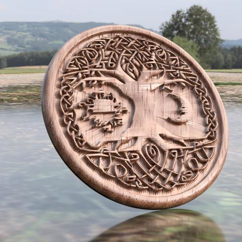 tree version 2 D.png Download free STL file Celtic tree of Life drink-coaster (version 2) • 3D printer object, IdeaLab