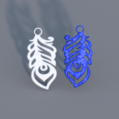 feather 2.png Download free STL file Feather earrings set (two models) • 3D printable template, IdeaLab