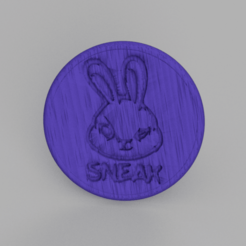 sneak.png Download free STL file Sneak drinkcoaster • Object to 3D print, IdeaLab