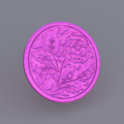rose.png Download free STL file drinkcoaster rose • 3D printing model, IdeaLab