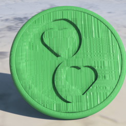 Download free STL Yin Yang hearts coaster, IdeaLab