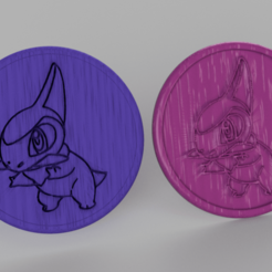 Free 3D model Pokemon go coasters (pair), IdeaLab