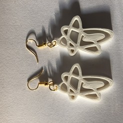 Download free 3D printer model Space element earring, IdeaLab