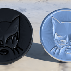 Free 3D printer designs Catwoman coaster pair, IdeaLab