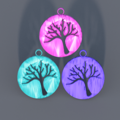 tree v2.png Download STL file Earring 'tree'  • 3D printer design, IdeaLab