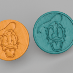 donald.png Download free STL file Donald Duck drinkcoaster (pair) • Object to 3D print, IdeaLab