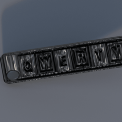 Download free 3D printing templates keychain QWERTY, IdeaLab