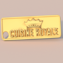 cr.png Download free STL file Cuisine Royale keychain • 3D printable design, IdeaLab