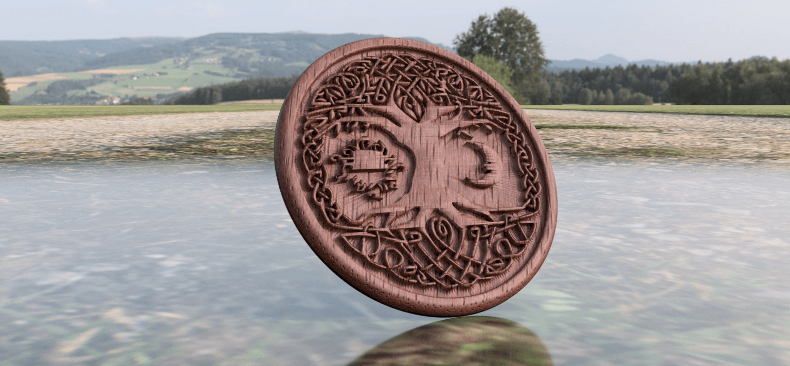 tree version2 A.png Download free STL file Celtic tree of Life drink-coaster (version 2) • 3D printer object, IdeaLab
