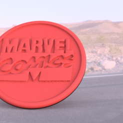 marvel.png Download free STL file Marvel comics coaster • 3D print template, IdeaLab