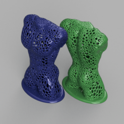 Download free 3D printer designs Male sculpture (Voronoi), IdeaLab