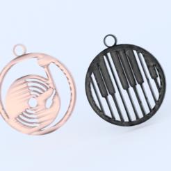 deejee.png Télécharger fichier STL gratuit Boucles d'oreilles DEEJEE/MUSIQUE (ensemble) • Objet pour imprimante 3D, IdeaLab