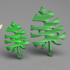 leaf v1.png Download free STL file Leaf earrings (two files!) • 3D printing model, IdeaLab