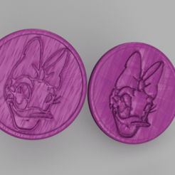 daisy.png Download free STL file Daisy Duck drinkcoasters (pair) • 3D printer design, IdeaLab