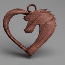 Imprimir en 3D gratis Pendientes de caballo, IdeaLab
