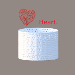 heart tree final.png Download free STL file Voronoi container: 'heart tree' • 3D printing design, IdeaLab