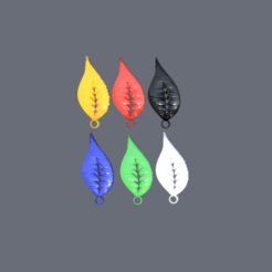 leaf.png Download STL file Leaf earring • 3D printing template, IdeaLab