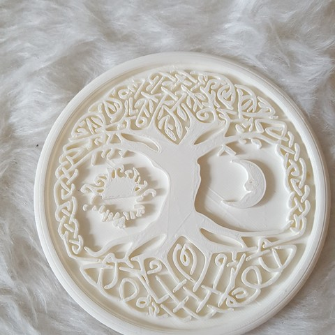 20190324_171433.jpg Download free STL file Celtic tree of Life drink-coaster (version 2) • 3D printer object, IdeaLab