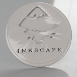 Free 3D printer designs Inkscape coaster, IdeaLab
