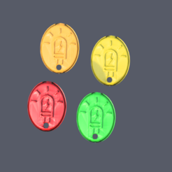 led.png Download free STL file Keychain; 'LED' • Template to 3D print, IdeaLab