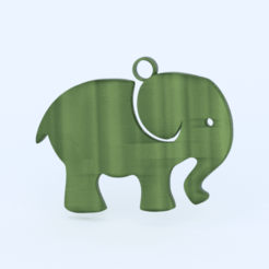 olifant.png Télécharger fichier STL gratuit Boucle d'oreille éléphant • Modèle pour impression 3D, IdeaLab