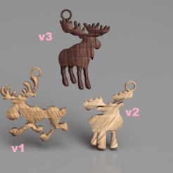 Download free 3D model Moose earring (set), IdeaLab