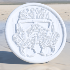 storm trooper.png Download free STL file Stormtrooper 'deluxe' coaster • Template to 3D print, IdeaLab