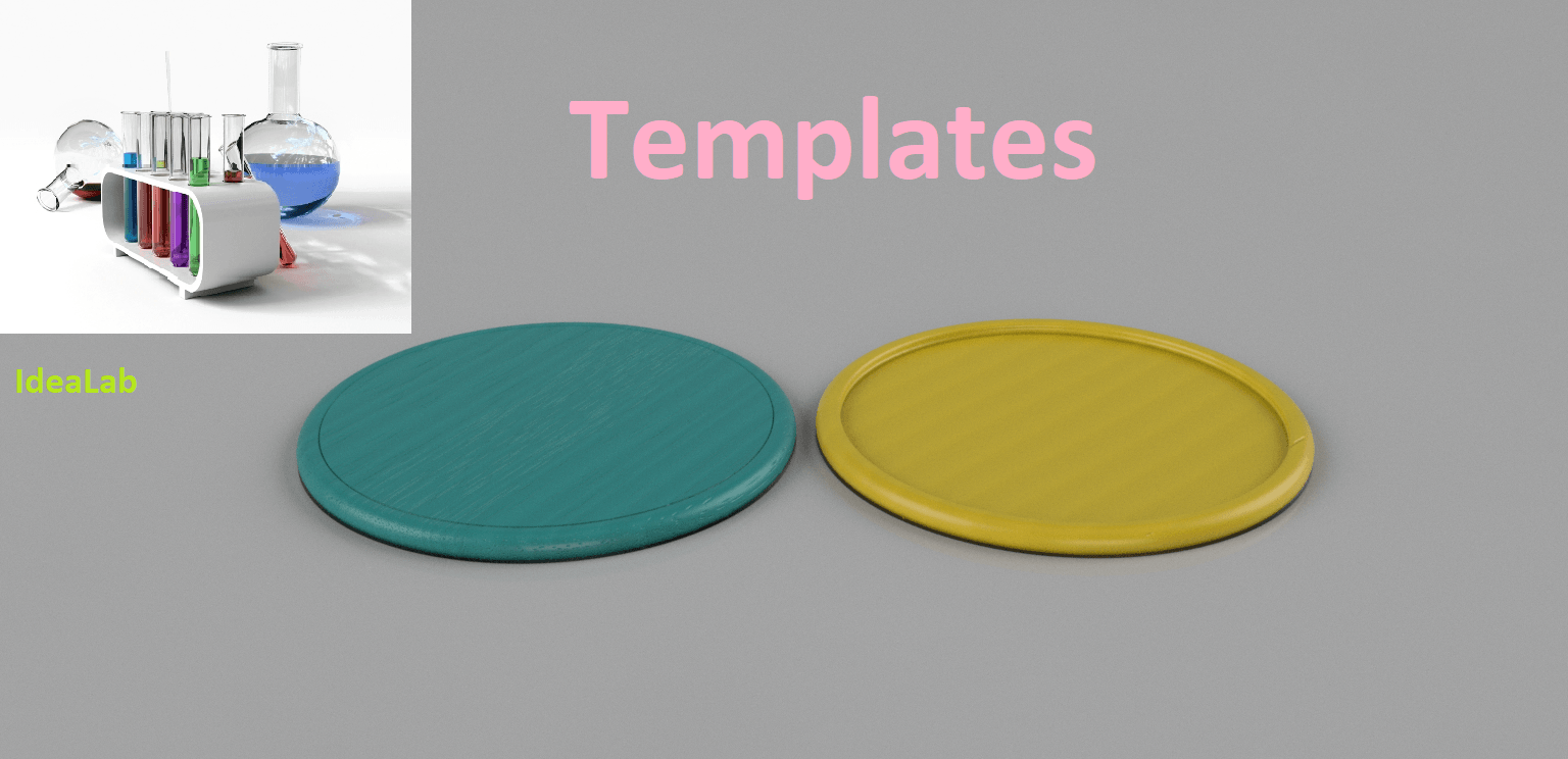 templates final.png Download free STL file Templates for coasters • 3D printing model, IdeaLab