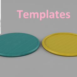 Free 3D printer model Templates for coasters, IdeaLab