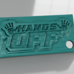 handsoff.png Download free STL file Keychain handsoff • 3D print design, IdeaLab