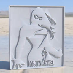 ms marvel.png Download free STL file Ms Marvel sign • Model to 3D print, IdeaLab