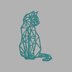 catart.png Download free STL file Cat art style • 3D printing template, IdeaLab
